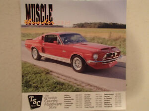 New 2004 MUSCLE THUNDER CAR CALENDAR.
