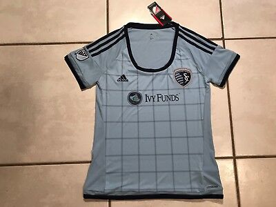 NWT ADIDAS Sporting Kansas City 2015 MLS Soccer Jersey Women's Medium image