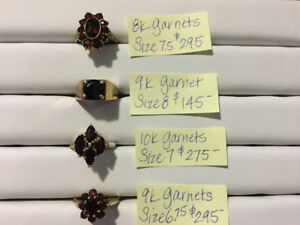 Love garnets?  Beautiful gold garnet rings