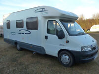 Lunar Champ H621 4 Berth Low Profile Rear Fixed Bed, 4 Seat Belts, Solar Panel
