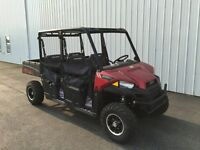 2015 Polaris Ranger Crew 570 EPS Sunset Red DEMO UNIT fo rOnly $