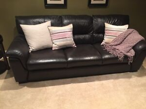 """Real leather couch! 84"""" long 36"""" wide"""