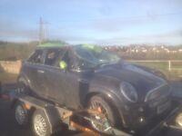 Damaged Mini, leather seats, alloys, parts available