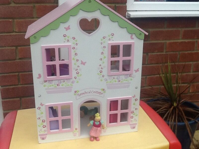 ELC Rosebud wooden dolls house