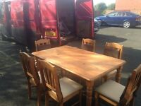 Wooding table and 6 chairs
