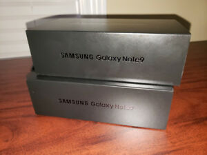 2 Galaxy Note 9's Unopened and Unlocked