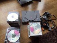 PlayStation 1 console, 46 games, retro console, sony