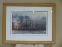 """Wharf Lights"" Framed, Signed Limited Addition Print"