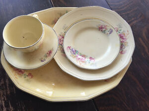36 piece antique China set