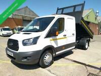 2018 68 FORD TRANSIT DROPSIDE TIPPER DOUBLE CAB / CREW CAB EURO 6 - 6 SPEED - 13