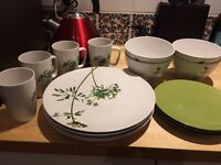 Dinner set for 4 (with spares)