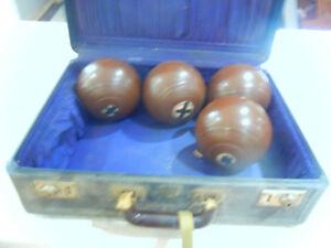 Vintage Lawn Bowling Balls 1940