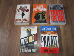 JAMES PATTERSON BOOKS - $3.00 EACH - IN EXCELLENT CONDITION!