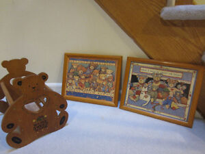 Teddy Bear Collection Frames Pictures, Magazine Rack