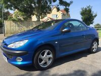 2003 PEUGEOT 206cc 1.6 litre CONVERTABLE WITH FULL BLACK LEATHER SEATS!!