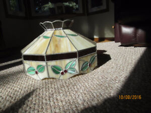 Stained glass  ceiling shade
