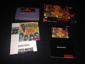 FINAL FIGHT SNES COMPLETE CIB MINT SUPER NINTENDO RARE CAPCOM!!