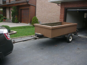 Utility Trailer with 4' by 8' by 2'  Box