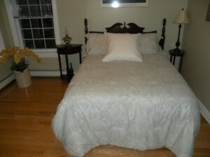 SACRFICE !! MOVING DOUBLE BED WITH DRESSER & END TABLE