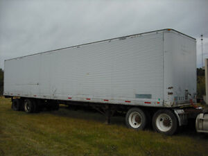 SEMI VAN TRAILERS + TIRES AXELS