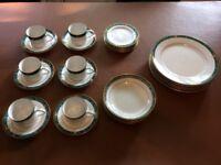 30 Piece Dinner Service Set For Six (6) Fairmont Julienne Fine China