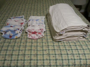 Bummies brand Baby-size cloth diapers