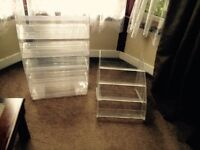 2 x plastic counter top display stands