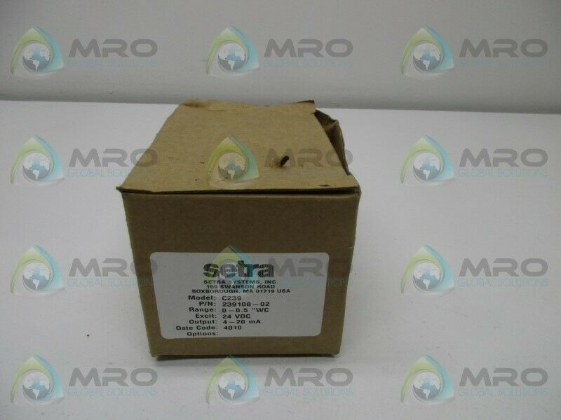 SETRA C239 PRESSURE TRANSMITTER * NEW IN BOX *