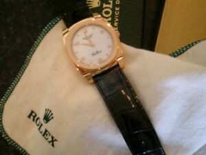 ROLEX Cellini 18k Pink Solid Gold Dress Watch