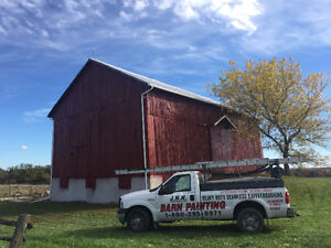 Barn repairs and painting, heavy duty seamless eavestroughing London Ontario image 6