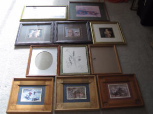 pictures in frames - great for photo wall / projects!