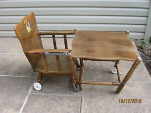 Wooden High Chair - Convertable Kitchener / Waterloo Kitchener Area image 2