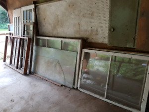 Free old frames, windows and three tempered glass sheets
