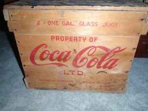 Coca Cola Syrup Wood Crate -REDUCED