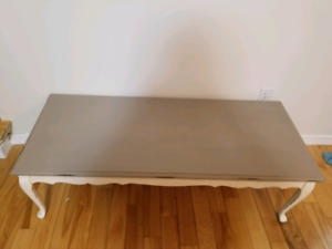 Refinished antique coffee table