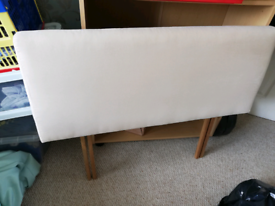 Cream suede headboard single bed £10 ono