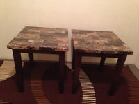 Two matching end tables $100 for both!