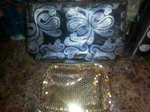 2 AVON CLUTCH PURSE'S 1 GOLD 1 SEE THRU$10.00FOR BOTH Windsor Region Ontario image 1