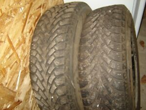 4 GOODYEAR NORDICS WITH RIMS (LIKE NEW) 195/70/14