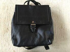 Marks & Spencer's Autograph leather rucksack bag black