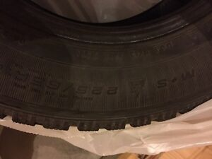 HARDLY USED WINTER TIRE 225/65/16 for just 350.