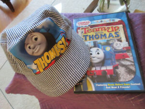 Thomas the Tank DVD, 2 books and Engineer's Hat