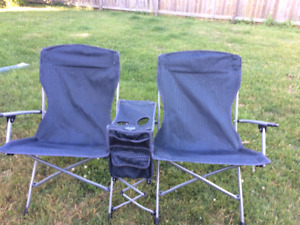 camping double folding chair