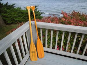 2 Canoe Paddles, 4 ft, Marine Varnished