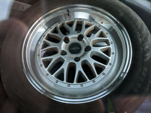 17 inch FAST Victory rims - 5x114.3 with good tires