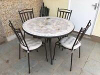 Outdoor garden furniture set - Round/circular 4 seater