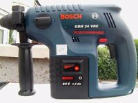 Bosch 24v SDS Drill, 2 Batteries, and 15 min charger. Powerful very clean machine. Light use.