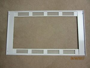 Microwave White Steel Front Trim Frame