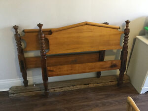 Beautiful Antique Wooden Bed Frame
