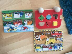 3 WOODEN PUZZLES